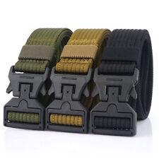 "Mens Tactical Belt 1.5"" Quick Release Plastic Magnetic Buckle Nylon Web Belts"