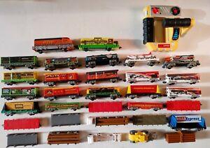 Large Lot Jakks Transport PTW  Power Trains Boxcars More
