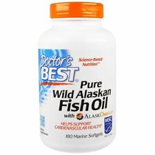 Doctor's Best Pure Wild Alaskan Fish Oil with AlaskOmega 180 Marine Softgels