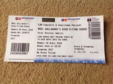 NOEL GALLAGHER USED GIG TICKET NOTTINGHAM ICE ARENA 30 APRIL 2018 FREEPOST OASIS