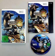 Nintendo Wii Spiel MONSTER HUNTER 3 TRI dt. PAL Ovp