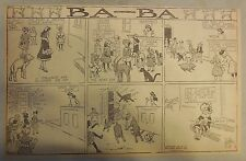 Ba-Ba Sunday Page by W. O. Wilson from 1908 Half Page Size! (Baby Sheep, Lamb)