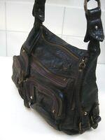 FAT FACE brown leather shoulder bag handbag tote hobo cross body messenger pink