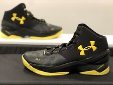 New Under Armour Curry 2 Basketball Men's Size 11.5 Black Yellow 1259007-006
