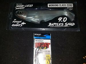 Working Class Zero 9.0 Silver BATTLES SHAD HEADCASE HARNESS Owner 10/0 Beast WCZ