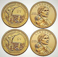2015 USA Native American Sacagawea P&D Dollar Set!!