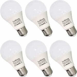 Lot de 6 ampoules LED E26 12 V 7 W 630 lm 12 V basse tension AC/DC 11-16 V E27