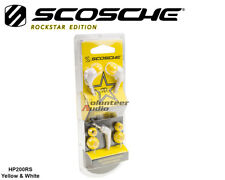 Scosche HP200RSWTYL RockStar Edition ThudBud Noise Isolated Ear Buds Wht/Yellow