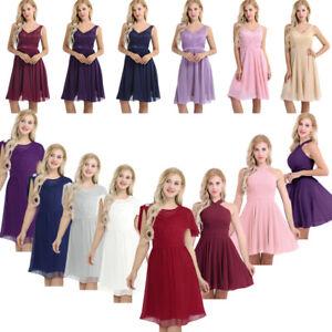Formal Women Chiffon Criss-Cross Short Mini Dress Cocktail Evening Party Prom
