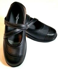 Orthofeet Black Mary Jane Shoes Womens Size 6.5D Leather Uppers