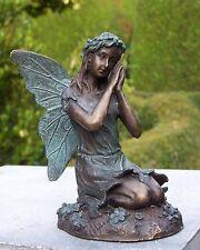 Bronze, Figuren, sitzende Fee, Dekoration für Heim und Garten *