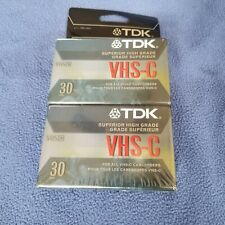TDK VHS-C Camcorder Video Cassettes Tapes VHS 2 Pack