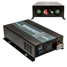 Power Inverter 2000W Pure Sine Wave Inverter 12V DC to 240V AC Off Grid Solar