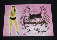 2015 Benchwarmer SANDRA TAYLOR Pink Archive #69 Pewter Foil Auto/10 PENTHOUSE