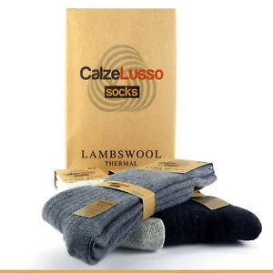 Pure Lambswol Black Merino Wool Woollen Socks Builder Motorist Climbing Camping