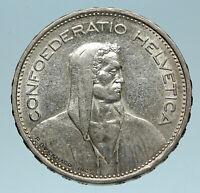 1959 Switzerland Founding HERO WILLIAM TELL 5 Francs Silver Swiss Coin i83263