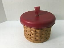 2004 Longaberger Mother's Day Mom's Essentials Basket with Genuine Leather Lid