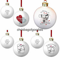 PERSONALISED OUR 1st FIRST CHRISTMAS BAUBLE Gifts for my Wife Husband Couple