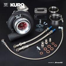 "KURO 4"" GT3076R HKS GT3037 Billet Ball Bearing Turbo w/ Adapter .63 A/R T3"