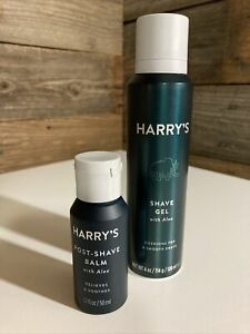Lot of 2 HARRY'S SHAVE GEL with ALOE 4 fl oz & Post Shave Balm NEW