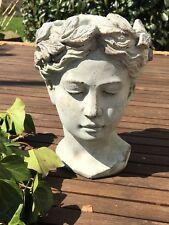 VALO Frauenkopf Pflanzschale Büste Frau Gartendeko Garten Schale Pflanzgefäß S