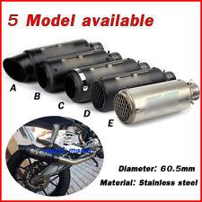 51mm 60.5mm Universal Exhaust Muffler Pipe No DB killer For Motorcycle Bike ATV