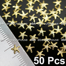 50 Pcs 3D Nail Art Decoration Sea Star Alloy Jewelry Glitter Rhinestone EG-166