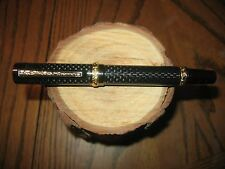 Gorgeous Handmade 24K& Titanium Cambridge Rollerball pen in Real Carbon Fiber