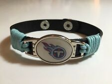 New Tennessee Titans Leather Adjustable Bracelet, Gift for Her Mom Him Dad