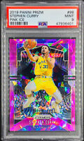 Stephen Curry 2019-20 Panini Prizm Pink Ice PSA 9 MINT Golden State Warriors