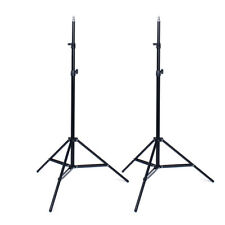 2x Pro Photo Photography Studio 2M Light Stand Tripod for Lighting Kit C7X1 F3K1