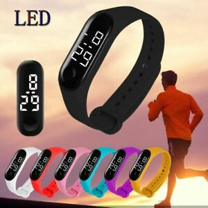 Men Women Watches LED Waterproof Touch Sensor Electronic Sports Student Lovers