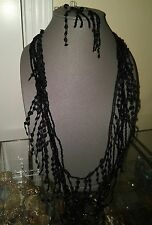 Black bid Collar Necklace earing included complete set