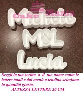 Scritta Personalizzata Nome in Polistirolo Porta Confetti Caramelle Confettata