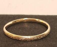 Victorian Gold Filled Engraved Children's Bangle bracelet. NR