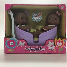 Berenguer My Sweet Love Lil' Cutesies African American Twin Dolls and Stroller