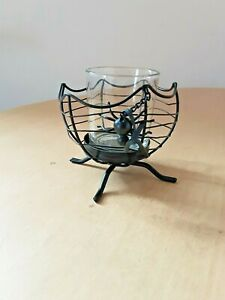 Yankee Candle Cauldron With Dangling Spider Votive Holder