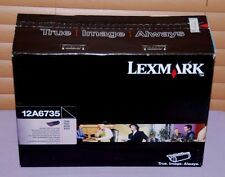 Genuine Lexmark 12A6735 Black High Yield Print Cartridge T520/X520 -- New Sealed