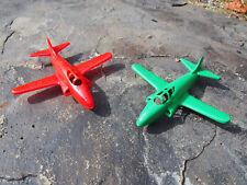Vintage 1950's Ideal USA Plastic Lockheed P-80 Shooting Star Toy Airplanes (2)