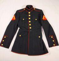 VINTAGE 1958 USMC US MARINE CORPS ENLISTED DRESS BLUES JACKET 34 R (Very Small)