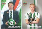Christoph PESCHEK und Mario SONNLEITNER , Rapid Wien  / Top und original !