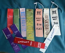 Lot of 11 1960s Swiming Ribbons Awards JAPAN Kadena Okinawa Sukiran 1968 1969