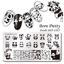 BORN PRETTY Nail Art Stamping Image Plate Cute Panda Design Manicure Template