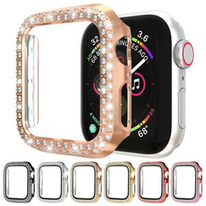 For Apple Watch 6 SE 5 4 40mm Full Case Cover Bling Protective Screen Frame A84