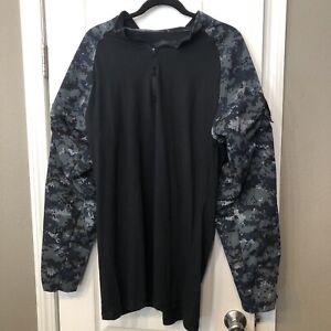 EUC! Tru Spec Mens 1/4 Zip Midnight Digital Combat Digital Camo Shirt XL Tall