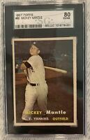1957 TOPPS BASEBALL COMPLETE SET EX/MT 407/407 Mantle SGC 80 Graded Star Cards!