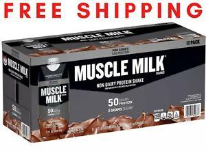 Muscle Milk Pro Series Non-Dairy Protein Shake, Knockout Chocolate (17 oz.12 pk)