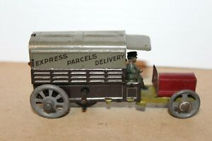 VINTAGE 1910's TIN LITHOGRAPH WIND UP  DISTLER EXPRESS PARCELS DELIVERY TRUCK