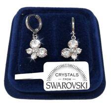 Orecchini Farfalla donna pl. oro bianco 18K con cristalli swarovski SW/20