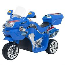 Blue Ride on Toy Motorcycle Battery Operated Tricycle Motorbike 2 - 3Yrs